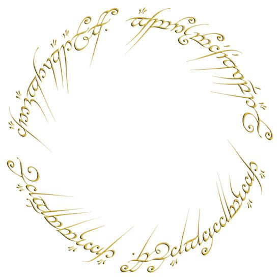 The One Ring Inscription By Jared Mcguire One Ring Fellowship Of The Ring Baby One More Time