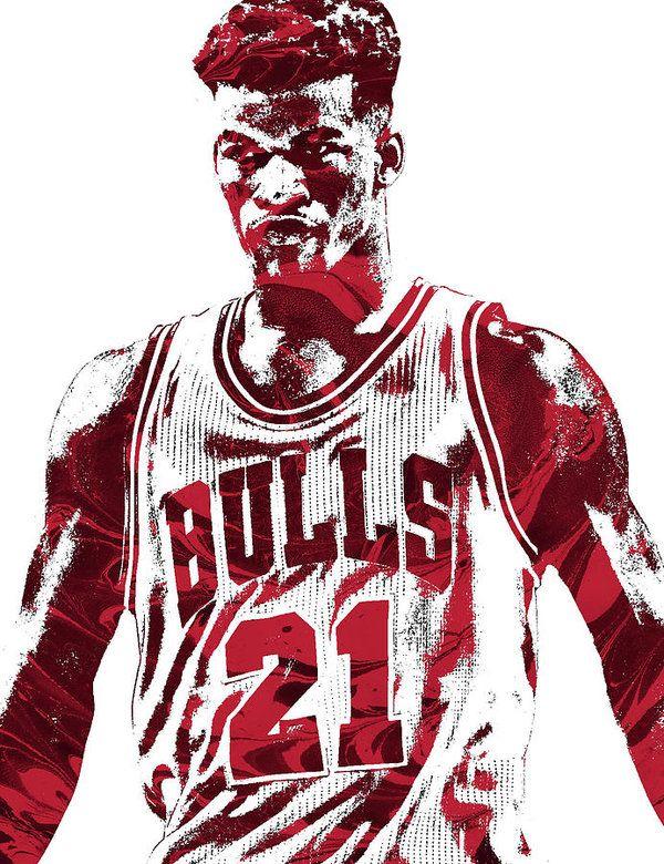 Jimmy Butler Chicago Bulls Pixel Art 2 Art Print By Joe Hamilton Chicago Bulls Nba Art Bulls Wallpaper