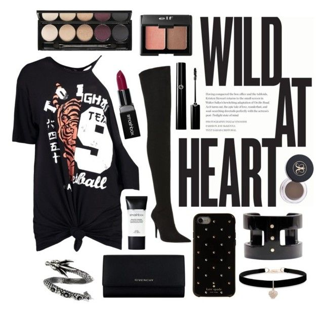 """WILD AT HEART"" by allthangels ❤ liked on Polyvore featuring Boohoo, Jeffrey Campbell, Givenchy, Kate Spade, Betsey Johnson, Charlotte Russe, Smashbox and Witchery"