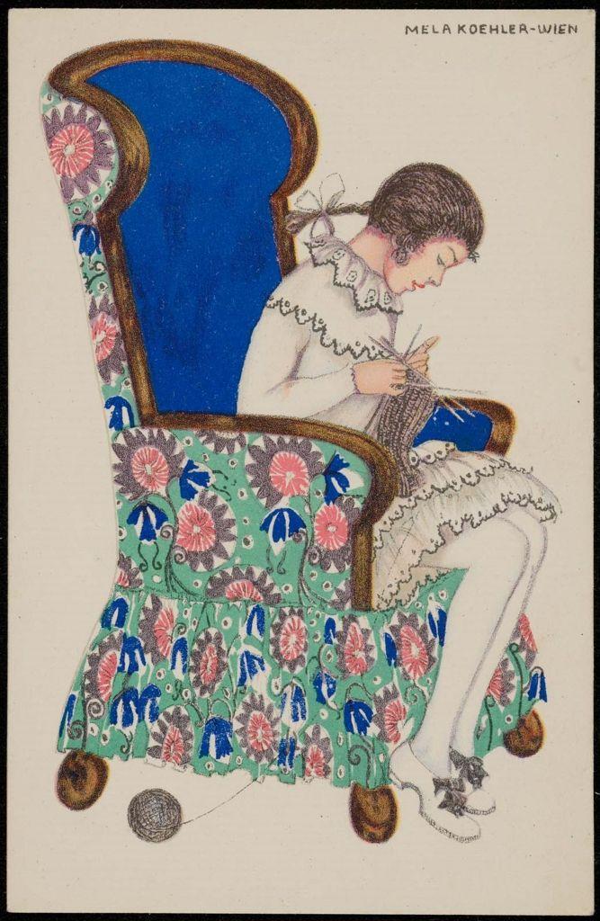 Austrian (Vienna) about 1914 Artist Mela Koehler (Austrian, 1885–1960), Publisher Bruder Kohn (Austrian (Vienna))  DIMENSIONS Vertical: Overall: 14 x 8.9 cm (5 1/2 x 3 1/2 in.) MEDIUM OR TECHNIQUE Color lithograph on card stock