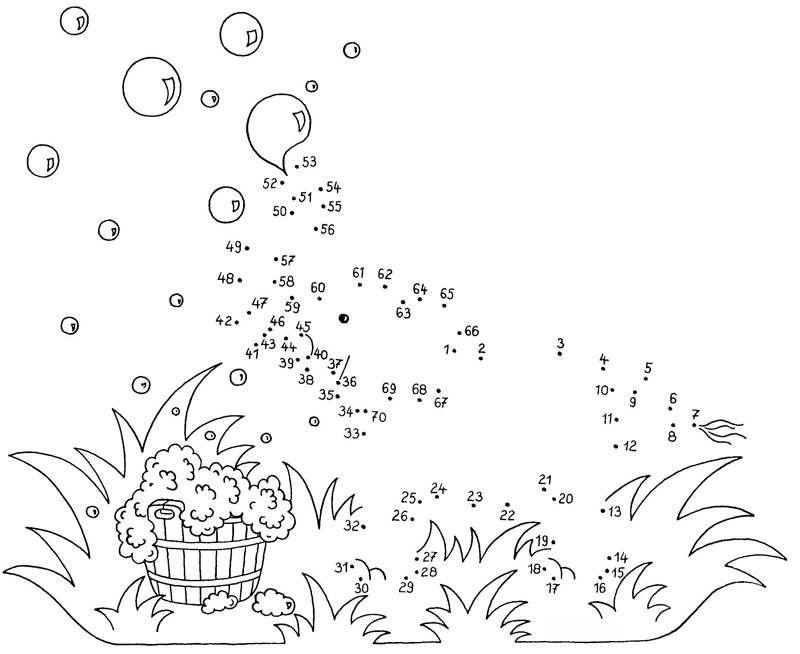 Ausmalbild Malen Nach Zahlen Elefant Mit Seifenblasen Kostenlos