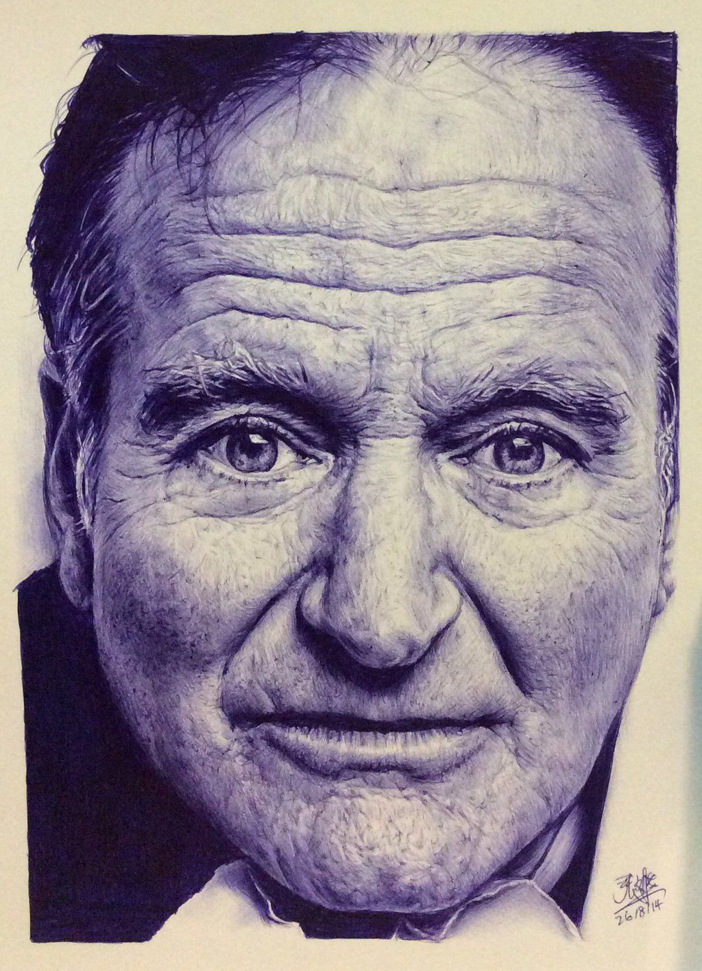 Color drawing pens for artists - Ballpoint Pen Drawing Of Robin Williams By Chaseroflight Deviantart Com On Deviantart
