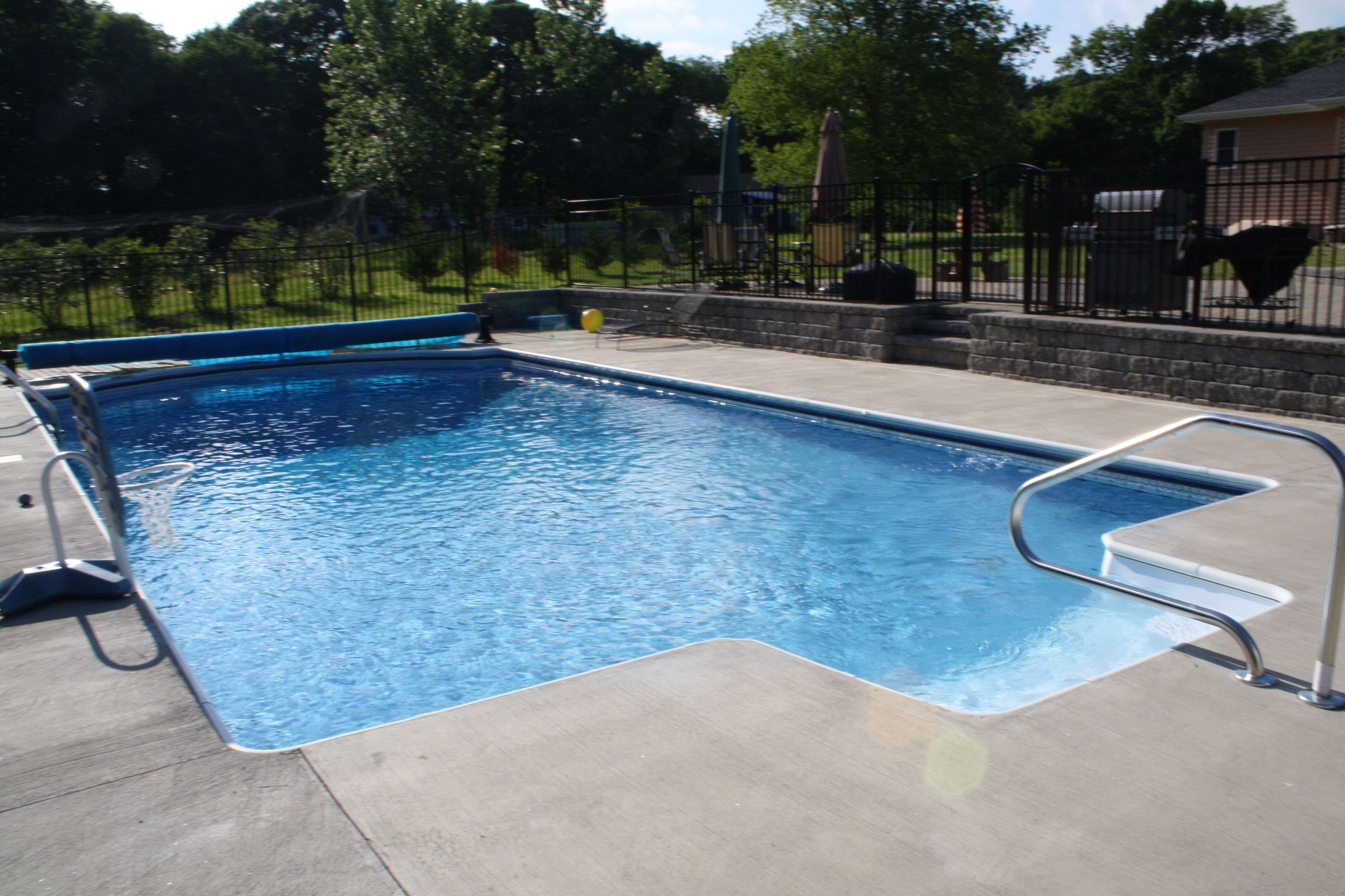 Pool Deck Ideas For Inground Pools composite style decks can meet the needs and requirements of any pool owner do you want the above deck made out of wood and all the area surrounding the Inground Pools With Patios Google Search