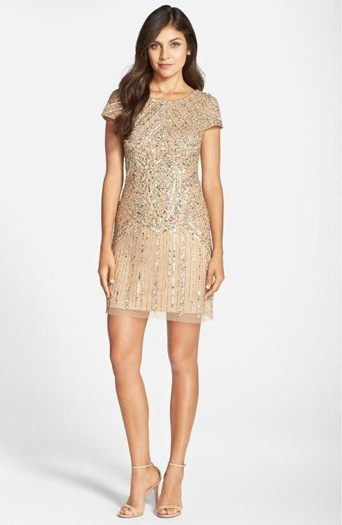 f0400cc7 Adrianna Papell - Sequined Ornate Dress 41911070 in 2019 | Things to ...
