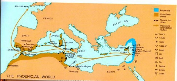 Phoenician trade map historygeography pinterest phoenician phoenician trade map gumiabroncs Image collections