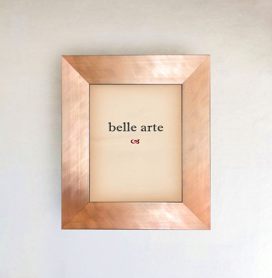brushed copper rose gold metal finish picture frame inside size 8x10 11x14 16x20 24x26 24x36 20x40