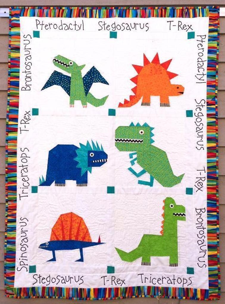 Dinosaur Paper Pieced Quilt Pattern
