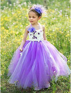 5ef10e933acd Ball Gown Floor Length Flower Girl Dress - Silk   Tulle Sleeveless ...