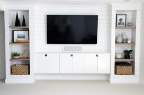 Chris Loves Julia Ikea Built In Built In Tv Wall Unit Built In Entertainment Center