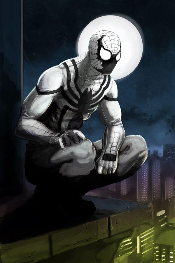 anti venom 2099 anti spiderman by xashe deadpool and