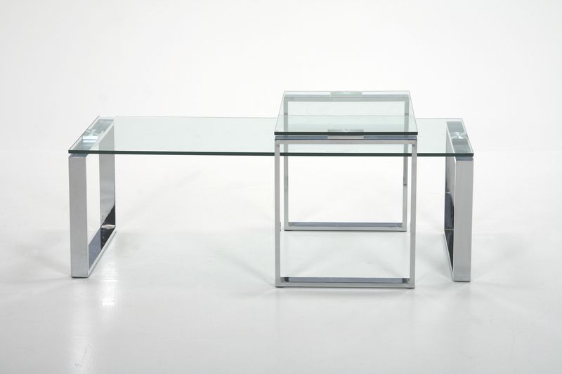Katrine Designer Clear Glass Coffee Table Glass Coffee Tables