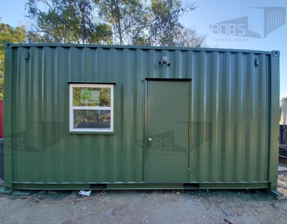 Photo of 20 ft Container Home – The Fort Worth Model – Panel / 20 ft Deck w/ Stairs / Off-grid Plus: Solar & Water