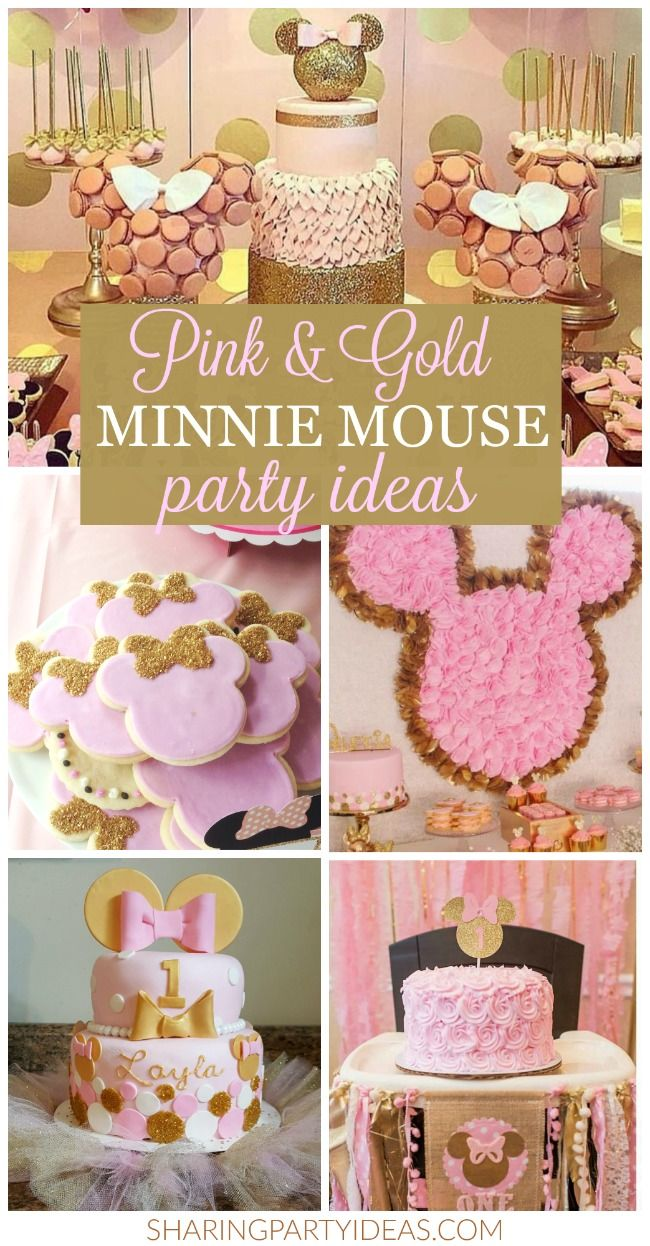 Pink Gold Minnie Party Ideas In 2019 Mickey And Minnie Party
