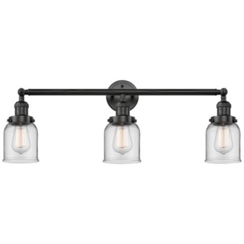 "Photo of Small bell 30 ""W matt black 3-light adjustable bathroom lamp – # 65G07 