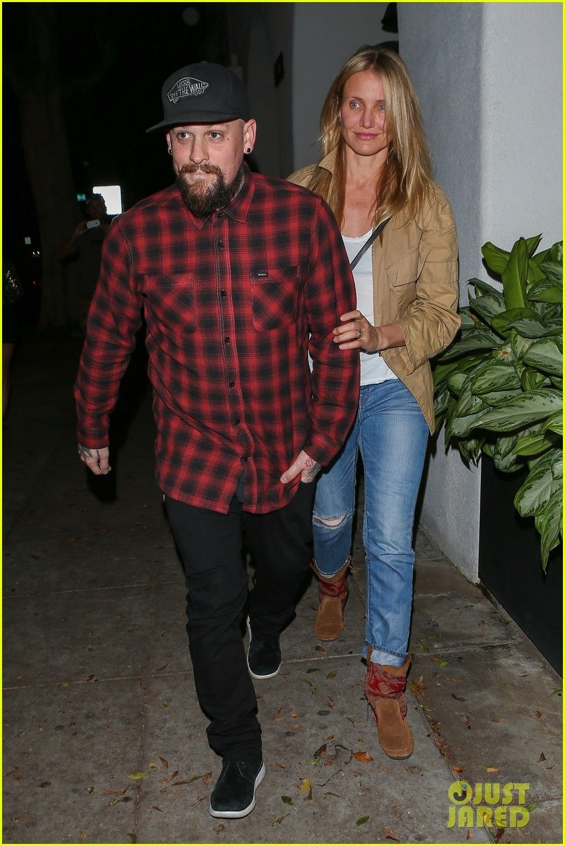 cameron diaz wearing the baja boot while out in la with husband