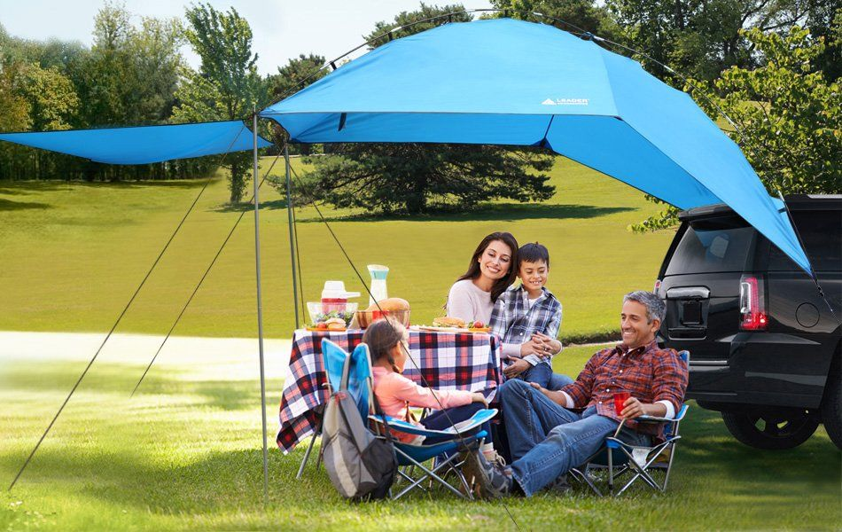 Amazon Com Leader Accessories Easy Set Up Camping Suv Tent Awning Canopy Sun Shelter Tailgate Tent Beach Tent Suitable For Suv Tent Tailgate Tent Tent Awning