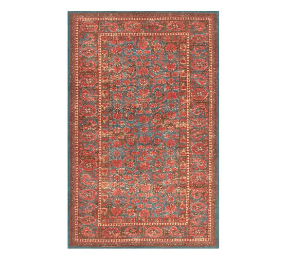 Marguerite Printed Rug Multi Synthetic Rugs Printed