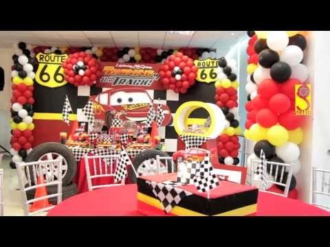 Las mejores decoraciones para tu fiesta de cars youtube for Decoraciones infantiles para ninos