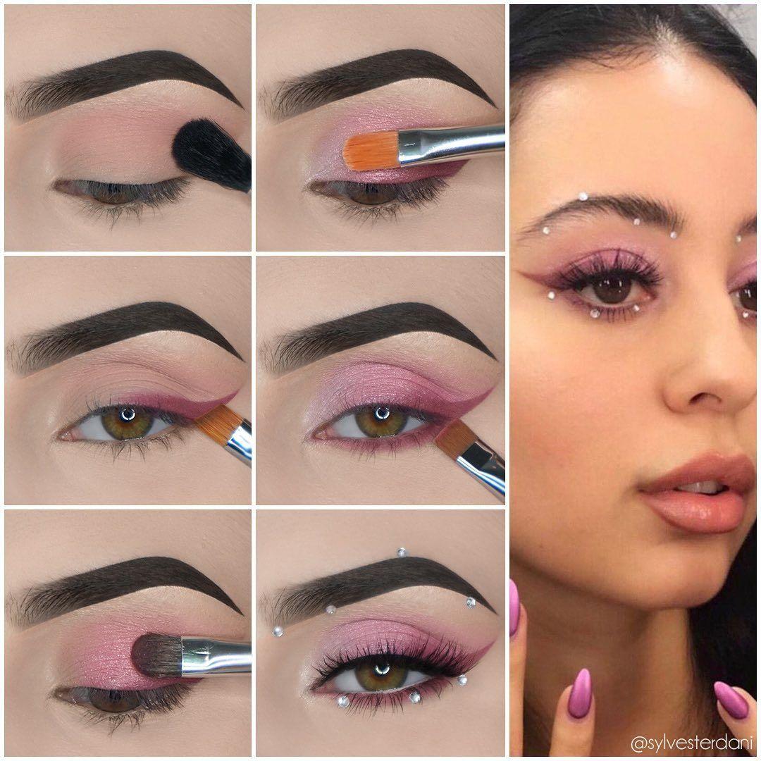 Pink Winged Eyeliner Tutorial Makeup Recreation Euphoria