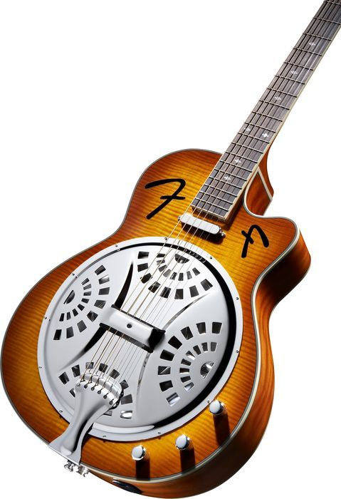 fender fr50ce cutaway acoustic electric resonator guitar sunburst banjos dobros mandolinas. Black Bedroom Furniture Sets. Home Design Ideas