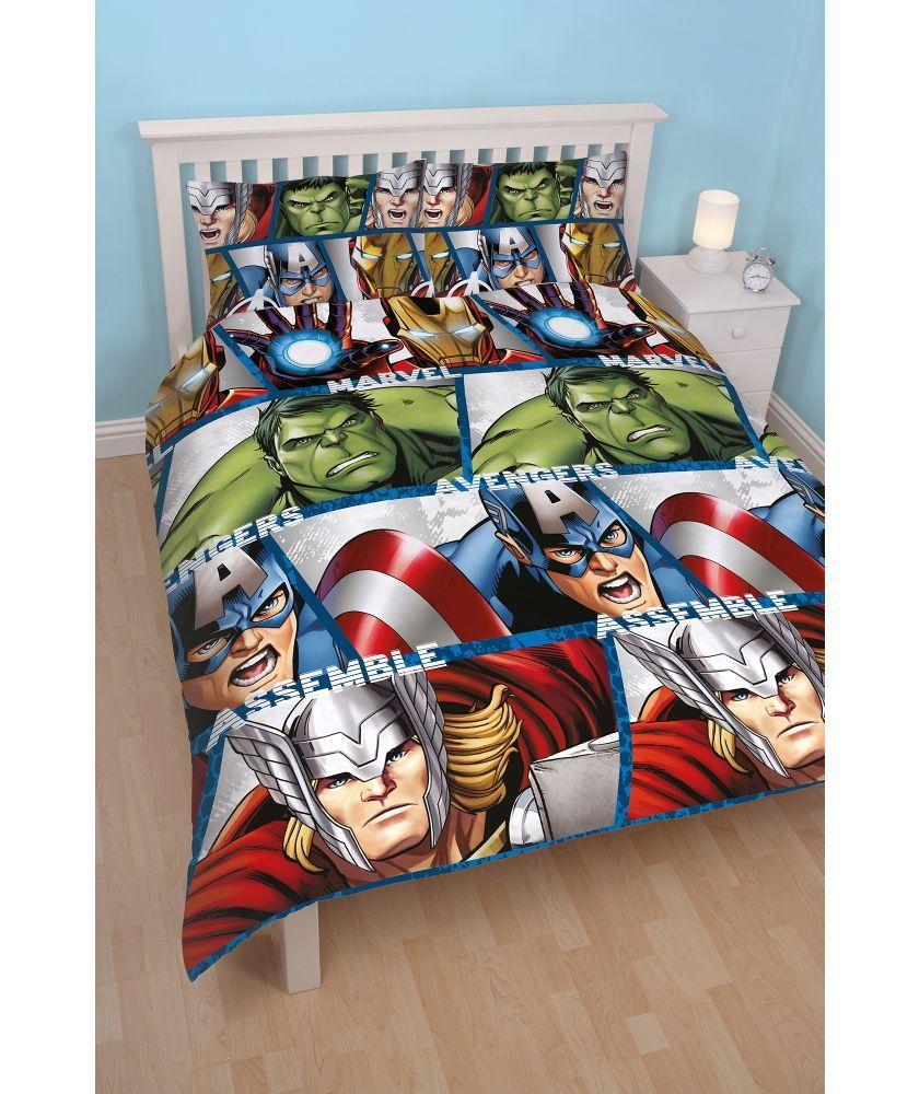 Polyester-Cotton Marvel Comics Junior Retro Design Duvet Cover Set