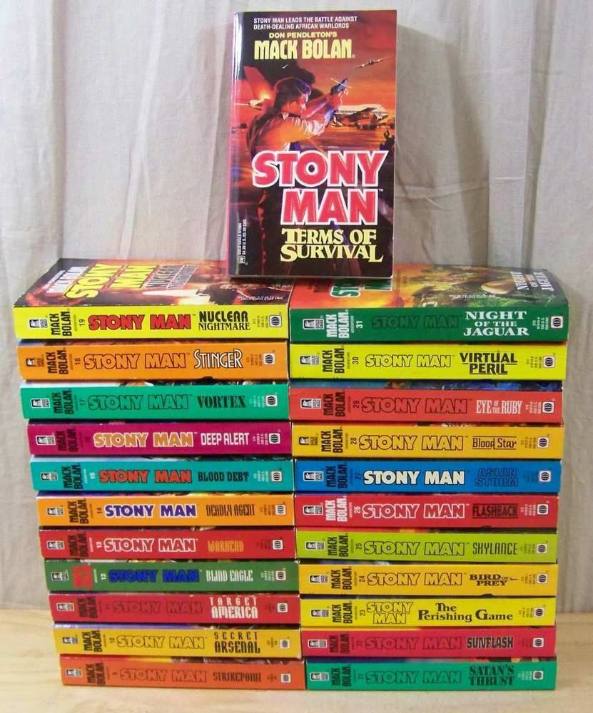 Lot of 23 Don Pendleton's STONY MAN Series #14-31 Action Adventure 1st  Editions