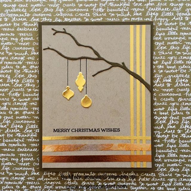 Christmas Ornaments & Year of Cheer Washi Tape - Aromas and Art