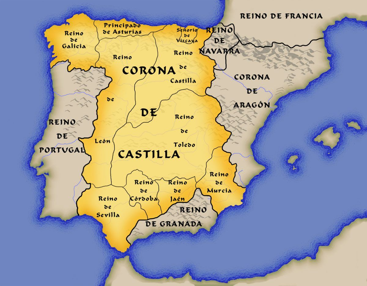 Mapa España Siglo Xv.Historia Y Evolucion Territorial Del Reino De Leon
