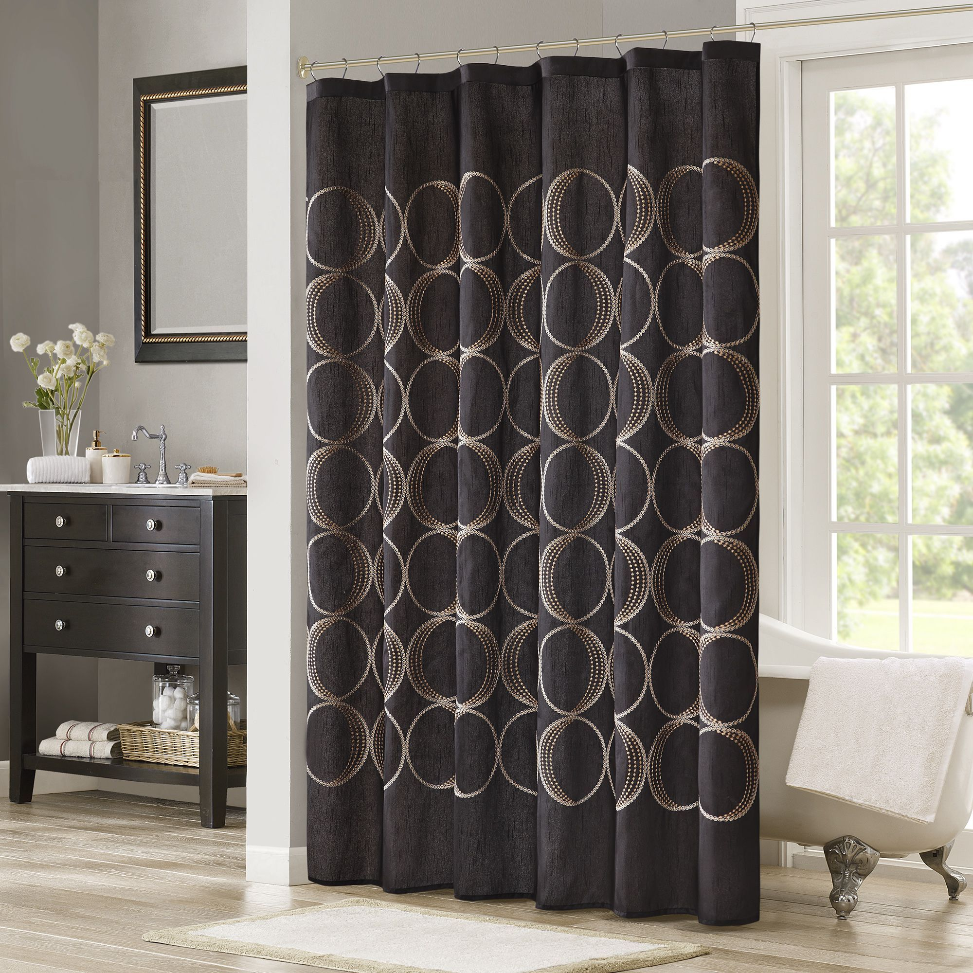 Madison Park Lenox Embroidered Shower Curtain By Madison Park
