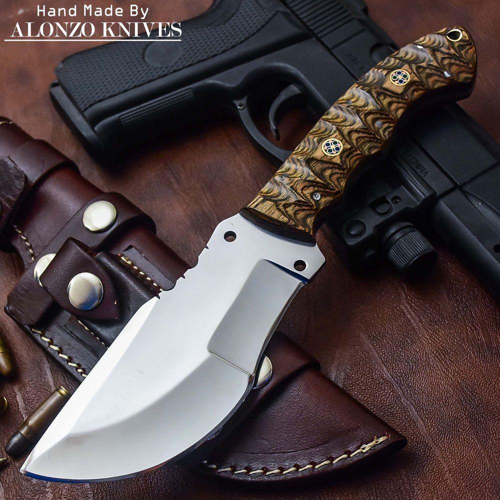 Финка-2 (рукоять береста, тыльник и гарда алюминий)   Ножи