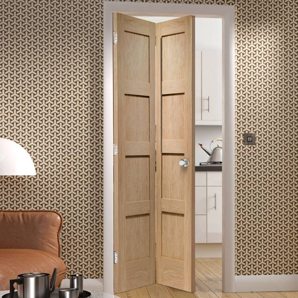 Shaker Oak Bifold Door Oak Bifold Doors Room Divider Doors Folding Doors