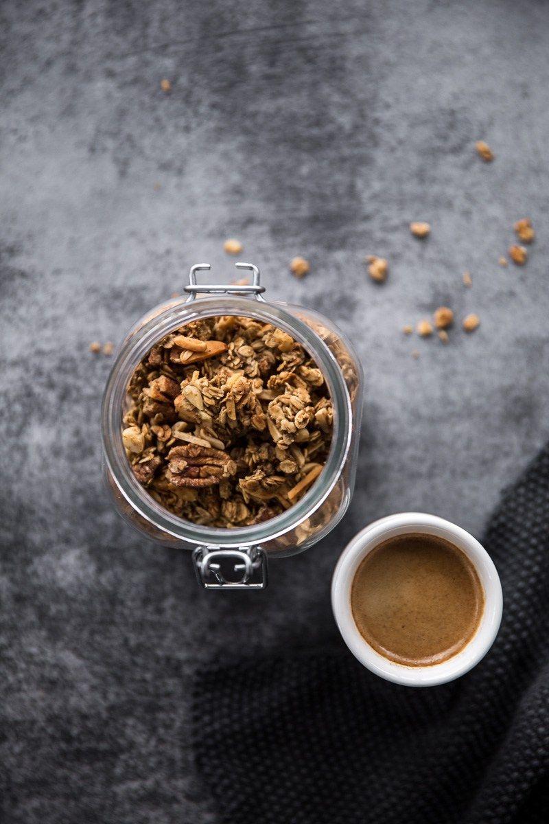 Coffee gingerbread granola Recipe Gingerbread granola