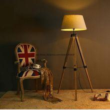 Us 279 00 Free Shipping Modern Tripot Stretch Wood Floor Lamp Light White Black Wood Dark Wood