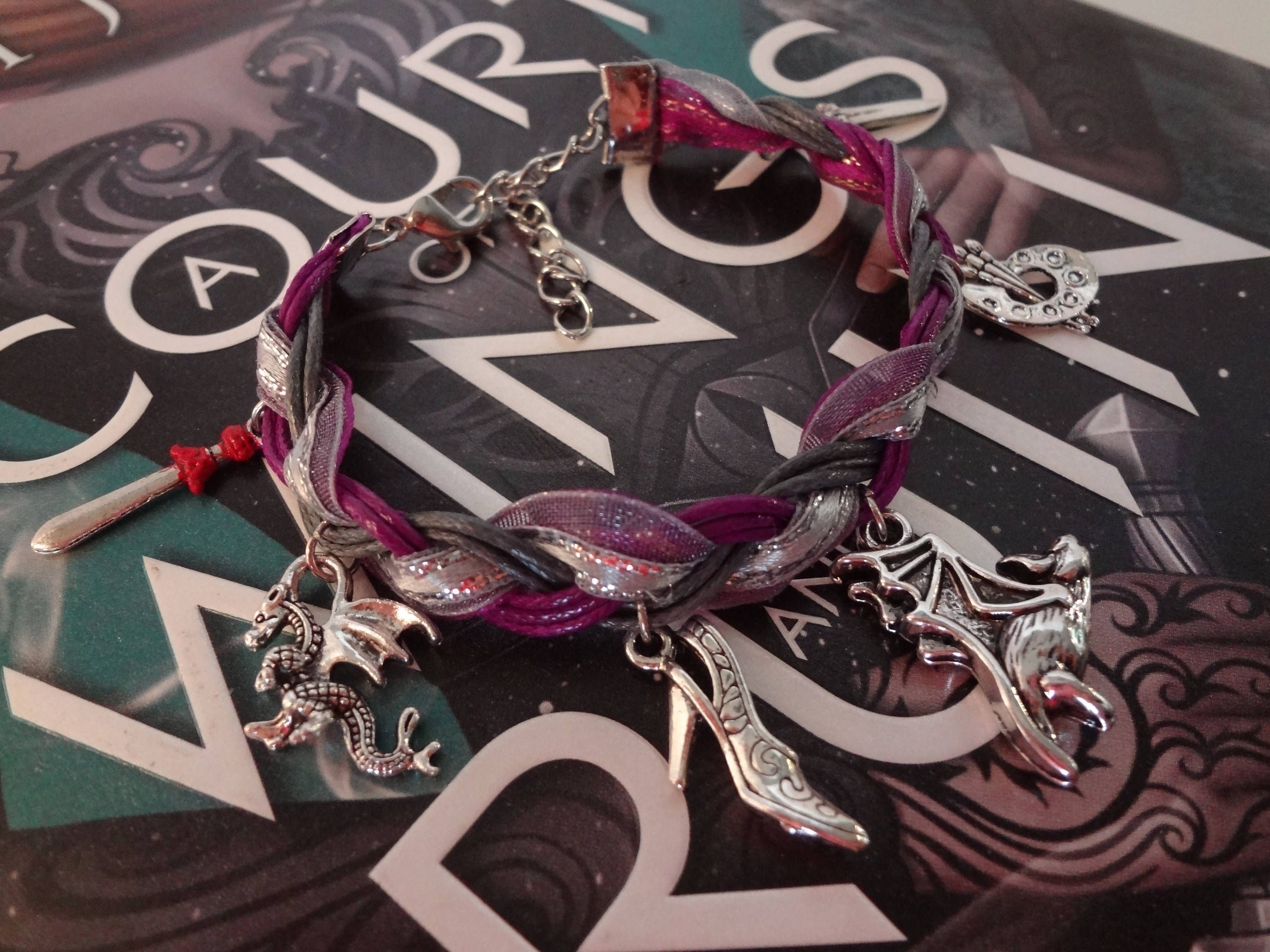 A Court of Thorns and Roses Inspired Braided Charm Bracelet, Court of Dreams Edition by TheWorldOfFandom on Etsy