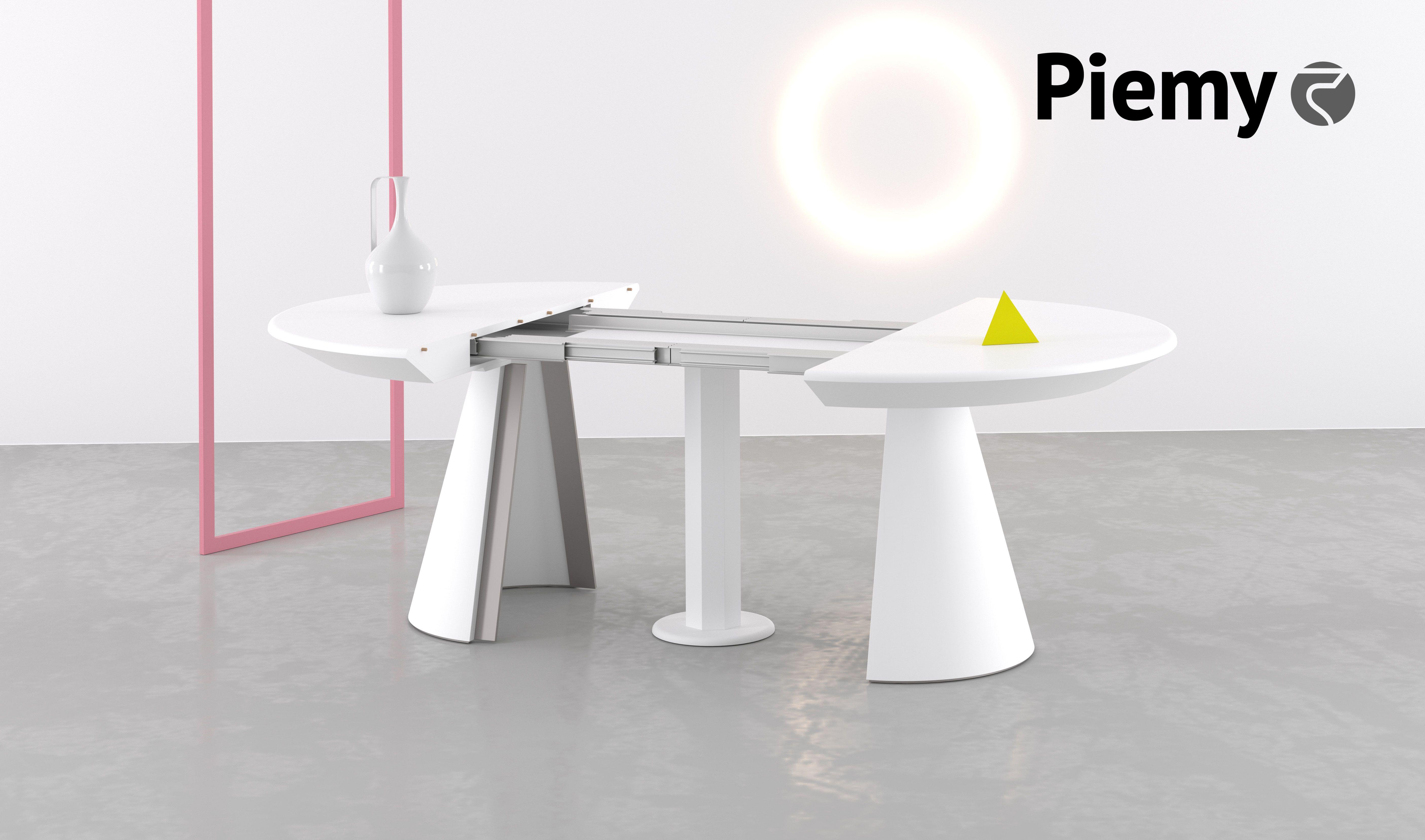 Tavolo Con Gamba Centrale Allungabile teak nel 2020   tavolo allungabile, tavolo trasformabile