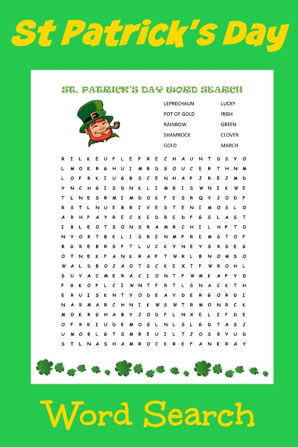 Exhilarating image with st patrick day puzzles printable free