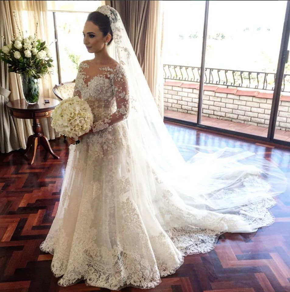 Click to buy ucuc lace mermaid muslim wedding dresses with flowers