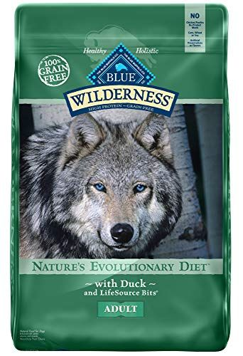 Blue Buffalo Wilderness High Protein Grain Free Natural Adult Dry Dog Food Duck 24lb