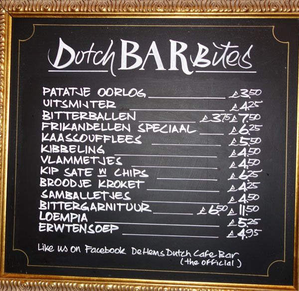 Image result for dutch bar blackboard