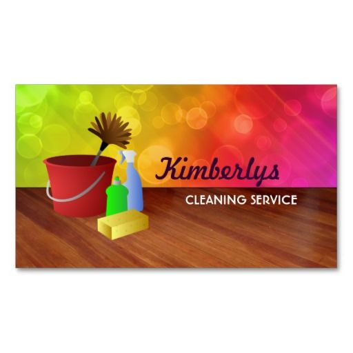 home cleaning business cards clean