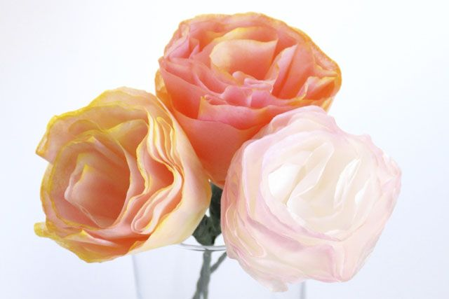 Coffee Filter Flowers from Orange Kitty Crafts