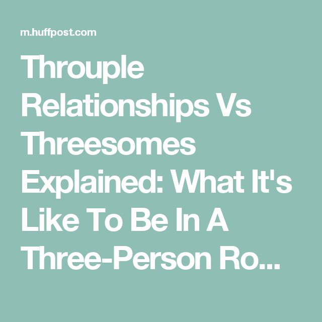 Threesomes that build marriage trust