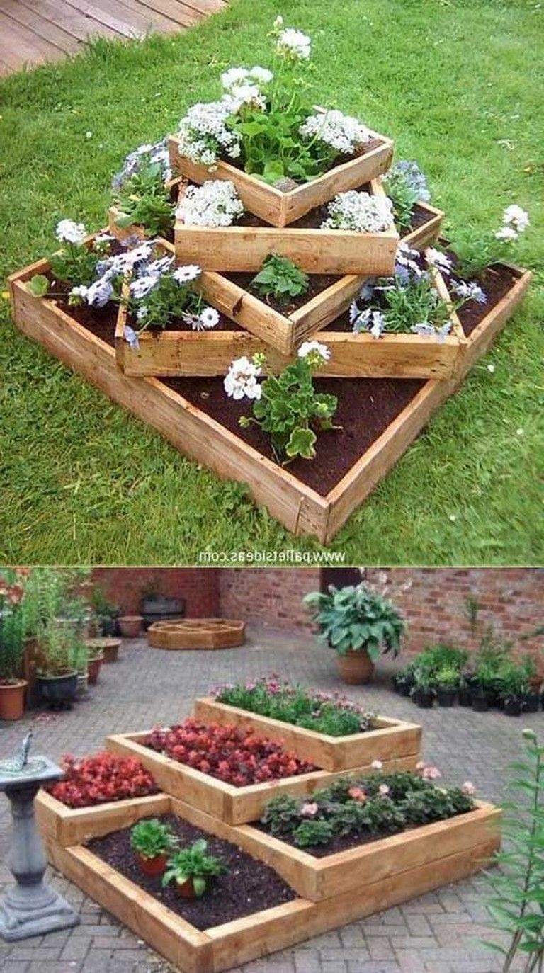 55 Awesome Creative Wood Pallet Garden Project Ideas Gardens