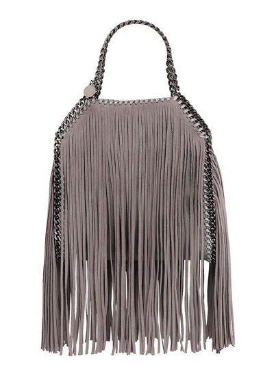 ec162bbedb84 STELLA MCCARTNEY - MINI 3CHAIN FALABELLA FRINGED BAG - LUISAVIAROMA -  LUXURY SHOPPING WORLDWIDE SHIPPING - FLORENCE