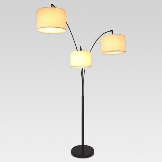 Create A Varied Look In Any Room With The 3 Head Shaded Floor Lamp From Project 62 153 Made From Durabl Arc Floor Lamps Bronze Floor Lamp Target Floor Lamps
