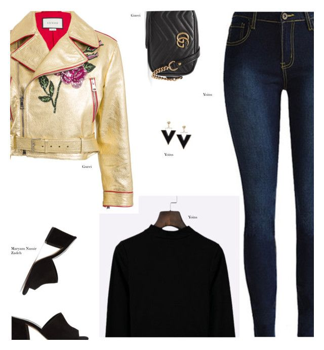 """""""YOINS"""" by s-thinks on Polyvore featuring Gucci, Maryam Nassir Zadeh, ootd, yoins, yoinscollection and loveyoins"""