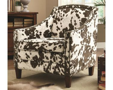 Cow Pattern Accent Arm Chair Patterned Chair Coaster Furniture