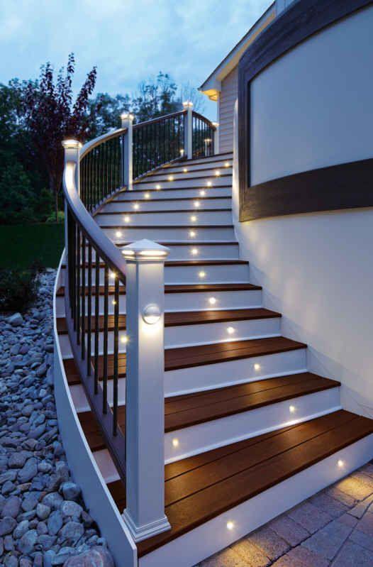 Wonderful Deck Stair Lighting   Trex