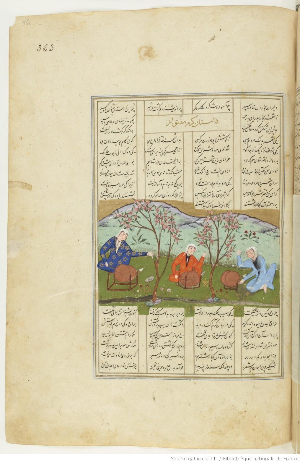 Recueil De Deux Manuscrits Epiques Du Sahnama Persian Miniature Plant Fibres Vintage World Maps