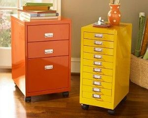 Painted Metal File Cabinets